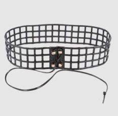 YVES-SAINT-LAURENT-RIVE-GAUCHE-leather-squares-belt-at-yoox-on-FDM