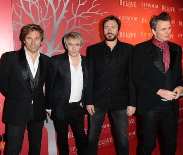 Musicians Roger Taylor, Nick Rhodes, Simon Le Bon and John Taylor of Duran Duran at CANNES BELVEDERE RED photo getty on FashionDailyMag