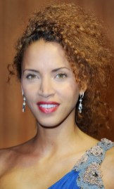 Noemie Lenoir wearing Montblanc petits pas long earings at Fashion for Relief event, Cannes May 16th