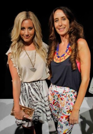 ASHLEY TISDALE mara hoffman on FashionDailyMag ss12 mbfw