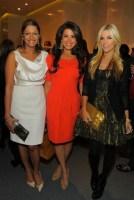 Anisha Lakani + Gigi Stone + Tinsley Mortimer at STUART WEITZMAN on FashionDailyMag