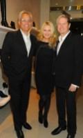 Cornelia Guest with James Mischka + Mark Badgley at WEITZMAN on FashionDailyMag