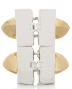 EDDIE-BORGO-gold-+-silver-pyramid-bracelet-FashionDailyMag