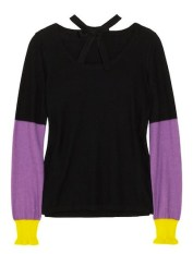 sonia by sonia rykier color blocked cashmere sweater just CASHMERE FDMLOVES