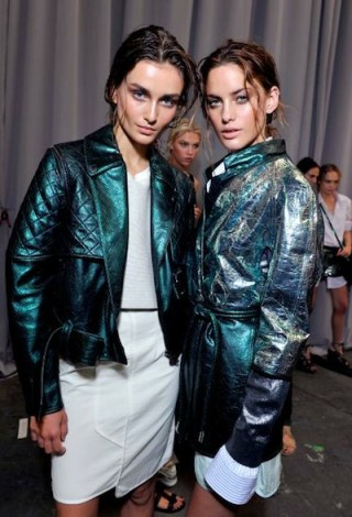 DIESEL BLACK GOLD backstage green leather sp 12 FashionDailyMag sel 8 brigitte segura