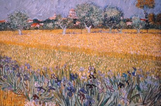 field with flowers Van Gogh at PMA fdmLOVES