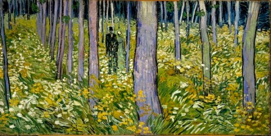 vincent van gogh undergrowth 2 figures phila museum FashionDailyMag loves