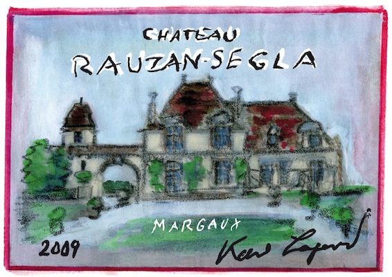karl lagerfeld LABEL art for Château Rauzan-Segla 2009 FashionDailyMag brigitte segura