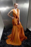 BASIL SODA AW 2012 RTW FashionDailyMag sel tangerine gown PFW
