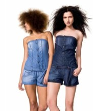 BENETTON SPRING 2012 fun denim shortsuit FashionDailyMag selects