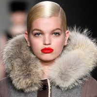 RED lipstick on the fall 2012 RUNWAY