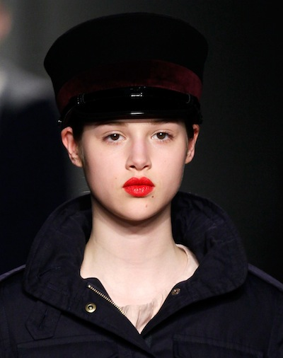 anais pouliot MARC by MARC JACOBS fall 2012 FashionDailyMag beauty goes red