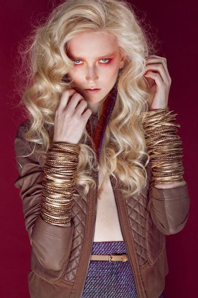 spring fierce beauty editorial stylist dixi romano model anu koski on FashionDailyMag