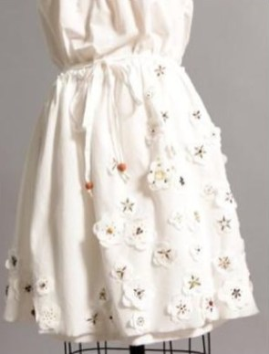 BROOKLYN INDUSTRIES white dress with Flowers fdmLOVES