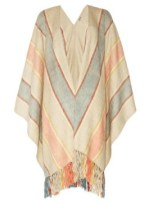 HAUTE HIPPIE woven cotton poncho outdoor fest 2012 FashionDailyMag
