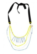 Lamia Benalycherif PARIS recycled BEADED necklace at ICUinPARIS in FashionDailyMag eco friendly fashion