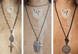 Shannon Koszyk jewelry ave maria necklace and vertebrae rosary FashionDailyMag