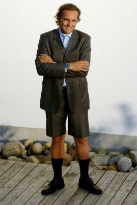 BLACKSOCKS founder in a short suit on FashionDailyMag