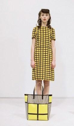 MARNI PRE-ORDER FOULARD yellow checks BRIAN REA fall 2012 FashionDailyMag