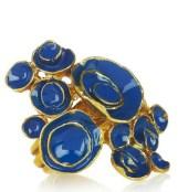 YVES SAIN LAURENT artsy enamel ring blue fdm ode to pilati