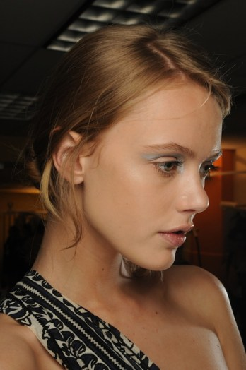 frida gustavsson at 3.1-phillip-lim_ss12 beauty make-up by NARS on FashionDailyMag