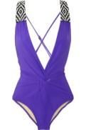 MARA-HOFFMAN-Beaded-plunge-front-swimsuit