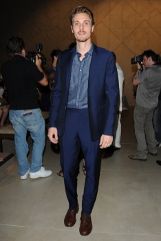 eros galbiati wearing burberry at the burberry prorsum menswear spring-summer 2013 show
