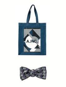 APC bag monsieur jean yves silk bow tie on FashionDailyMag