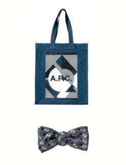 APC bag monsieur jean yves silk bow tie on FashionDailyMag