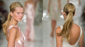 GET THE LOOK ponytail sleek pony hair trends on the runway FashionDailyMag