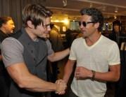John Varvatos Event 2012 Josh Henderson and Patrick Dempsey FashionDailyMag Selects 2