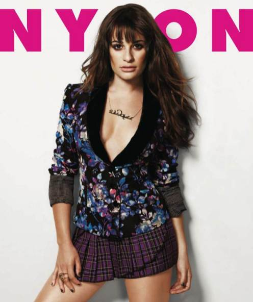 LEA MICHELLE covers nylon issue september on FashionDailyMag