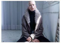PAS de calais fw 2012 fuzzy collar jacket