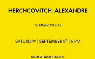 ALEXANDRE HERCHCOVITCH spring 2013 collection milk studios