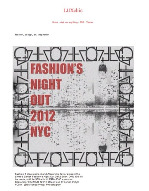 F4 FASHION DEVELOPMENT fno scarf FashionDailyMag
