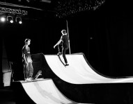 DIESEL BLACK GOLD skaters practicing pre-show atmosphere ss13 nyfw