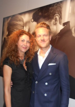 brigitte segura and nicks ericsson at J.LINDEBERG presentation spring 2013