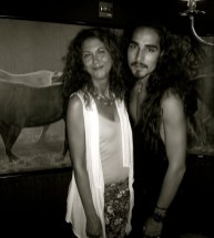 willy cartier and brigitte segura at 2 atelier red bunny bw at superlinda sept 4, 2012