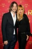 Rachel Zoe with husband   ADR at HM paris on FashionDailyMag