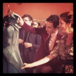 BRIGITTE SEGURA and ZAC POSEN backstage Fashion Houston