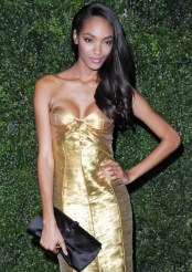 JOURDAN DUNN wearing burberry at 58th london evening standard | FashionDailyMag