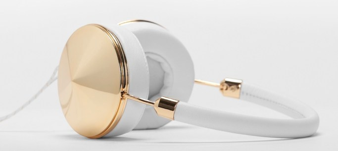 frends taylor gold white headphones