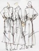 MONIKA CHIANG Jumpsuit Sketch fall 2013 NYFW