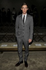 luke treadaway winter 2013 menswear show in milan
