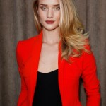 Rosie Huntington-Whiteley wearing Burberry make up at the Burberry Prorsum Womenswear Autumn-Winter 2013 show