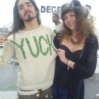 willy cartier and brigitte segura DEGEN fall 2013 NYFW