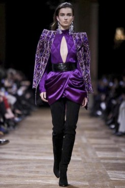 BALMAIN FW13 PFW FashionDailyMag sel purple 1