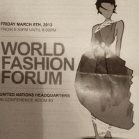CATCHING UP at UN world fashion forum