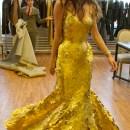 the 24K gold dress at Tribeca Film Festival