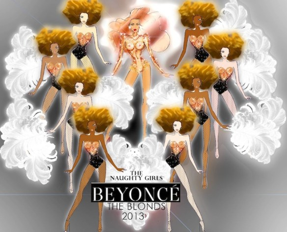 THE blonds for beyonce Mrs. Carter | FashionDailyMag